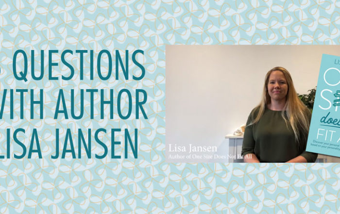 Author Lisa Jansen talking about her book: One Size Does Not Fit All